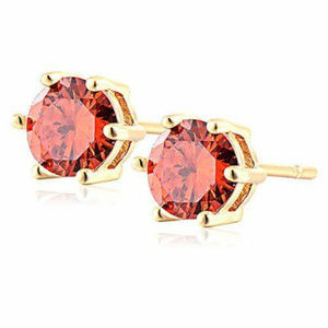 Other - Elegant 18K Gold Plated Red Crystal Studs